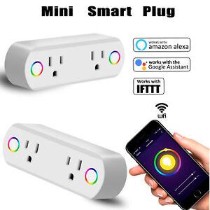 Intelligente-Wifi-Presa-Presa-Potenza-Interruttore-Di-Controllo-remoto-timer-Alexa-googlehome