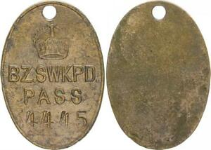 German South West Africa Tribal Passmarke Nr.4445 Bz.swkpd.pass Almost VF