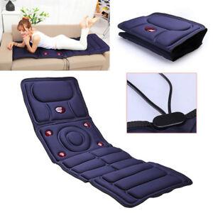 Electric Vibrating Massage Mattress Bed Cushion Body Pad ...