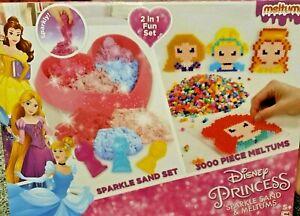 Disney-Princess-Sparkle-Sand-amp-3000-Piece-Princess-Meltums-Beads-Kids-Craft-Set