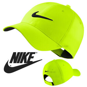 504383ec7e4 NEW Nike SWOOSH BASEBALL CAP GREEN PLAIN GOLF LEGACY 91 TECH GYM ...