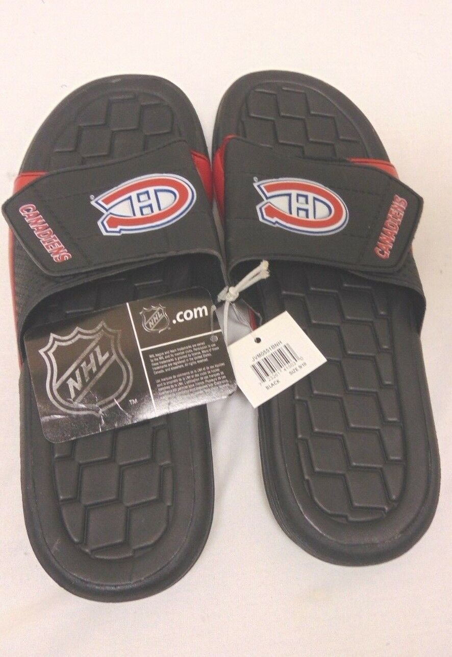 NHL Sandal Hockey Montreal Canadiens Slide Sandal NHL Flip Flop Beach Shoe Black Red New 0bb306