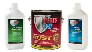 POR-15 Cleaner Degreaser / Metal Prep / Rust Preventive Semi Gloss Black - 108