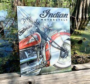 Indian-America-039-s-Pioneer-Vintage-Metal-Tin-Sign-Wall-Decor-Garage-Man-Cave-Shop