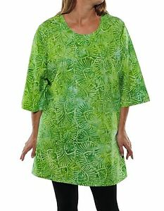 Plus Size We Be Bop Swing Top DELICIOSA (green) Bouse WeBeBop 100% Cotton Top