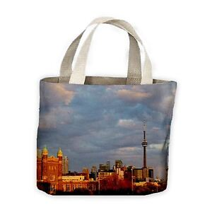 For Shopping Toronto Tote Cn Bag Life Tower Skyline With cF1czCW