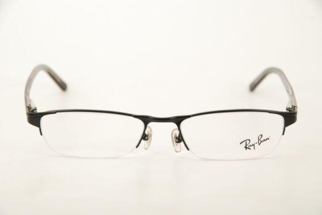 Authentic Ray Ban RB 6066 2503 Black 50mm Half Rim Frames Eyeglasses ...