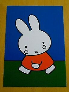 039-WITH-LOVE-FROM-MIFFY-039-POSTCARD-MIFFY-CRYING-DICK-BRUNA-NEW