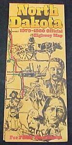 One-Vintage-1979-1980-Official-Highway-Road-Map-North-Dakota-Souvenir-FREE-S-H