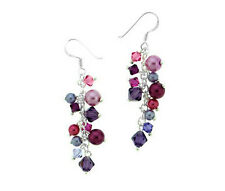 Sterling Silver with Swarovski Crystal Dangle Earrings