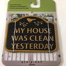 NEW Evergreen Garden Magnetic Plaque Clean House Screen Saver Doors & Windows