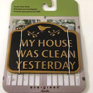 Details About NEW Evergreen Garden Magnetic Plaque Clean House Screen Saver Doors  U0026 Windows