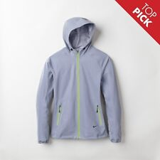 NIKE WOMENS ALLOVER FLASH REFLECTIVE 3M HOODED RUNNING JACKET SIZE L TECH NSW