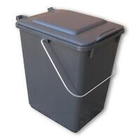 Neue Futtertonne Plastikeimer Tierfutter Box Behälter Mit Deckel 10 Liter Grau.