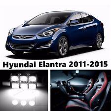 10pcs LED Xenon White Light Interior Package Kit for Hyundai Elantra 2011-2015