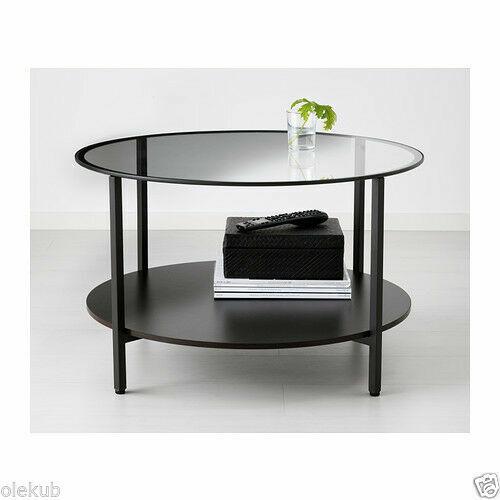 Ikea Vittsjö Coffee Table Metal Frame, Glass Round Coffee Table Ikea
