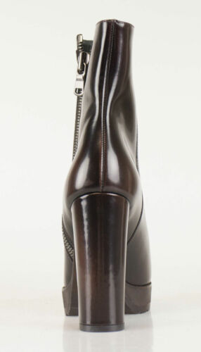 Details about  /New BRUNELLO CUCINELLI Brown Patent Leather Booties Shoes Size 38.5//8.5 $1745
