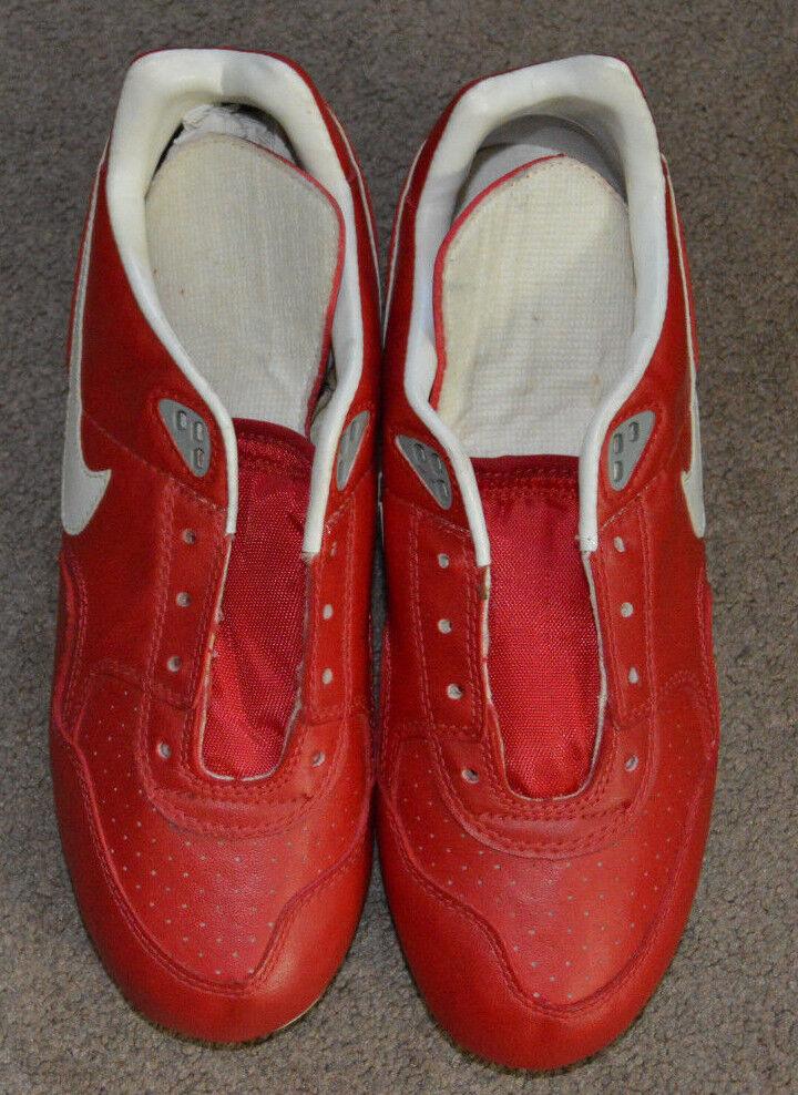 NEW Vtg Nike Slasher Fire Red White 6.5 Baseball Metal Cleats 1991 Deadstock