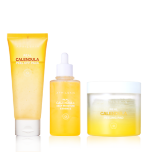 April-Skin-Real-Calendula-Skincare-Trio-Peel-Off-Pack-Essence-Peeling-Pad