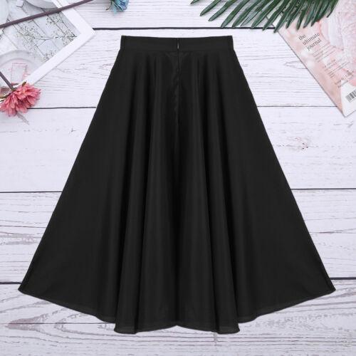 Kids Girl Praise Liturgical Circle Skirt Church Party Dance Long Maxi Full Dress