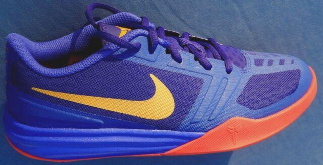 size 40 f1bf2 7b033 Nike KB Kobe Mentality GS Purple Gold Red Basketball 705387-500 Boys US 7y