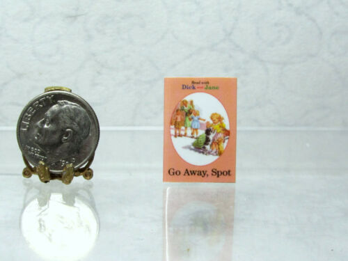 Dollhouse Miniature DICK /& JANE thin non-opening  Book