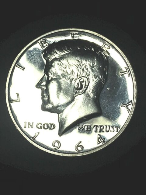 1964 Kennedy Half Dollar .90 Silver GEM PROOF AMAZING - DETAILS - BEAUTY-CLARITY