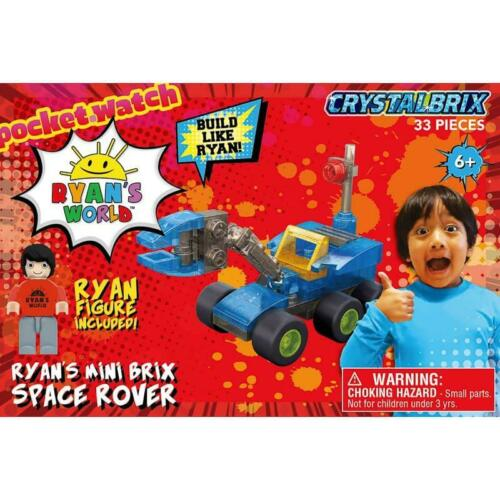 33 PC Playset y compris Ryan Figure Ryan/'s World Ryan Mini Brix Space Rover