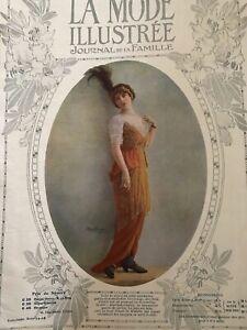 MODE-ILLUSTREE-July-13-1913-sewing-pattern-Mourning-dress