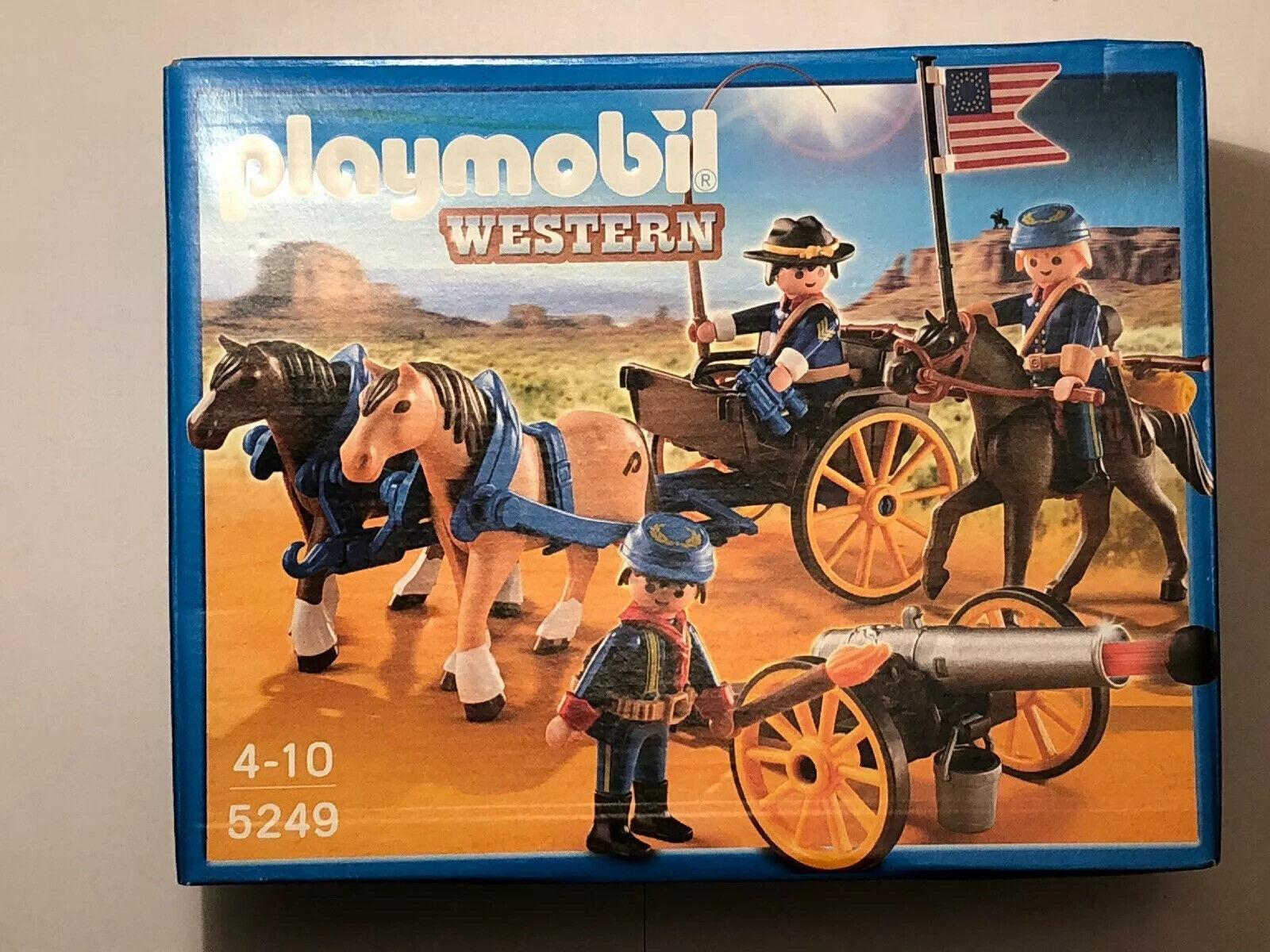 Playmobil Western Kavalleriewagen mit Kanone 5249 Neu & OVP Nordstaatler ACW