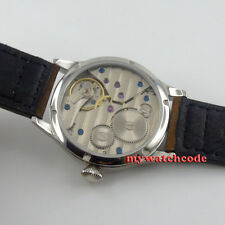 44mm parnis grey dial big crown 6497 movement hand winding mens wrist watch P458