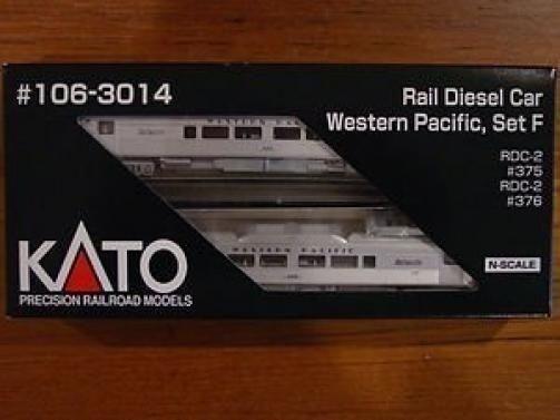 KATO 106-3014  N  Budd Rail Diesel Car  RDC  Western Pacific 2 Car Set F