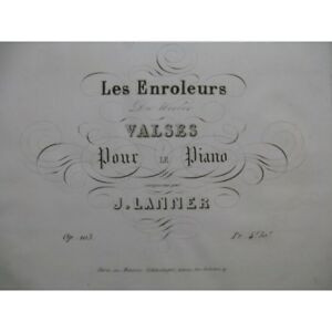 Musikinstrumente Streng Lanner Joseph Die Enroller Piano Ca1838 Partitur Sheet Music Score Noten & Songbooks