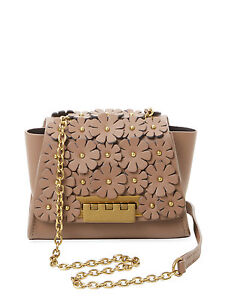 Zac Posen Eartha Iconic Latte Floral Micro Chain Crossbody