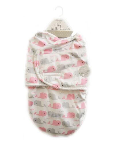 Fille bébé Swaddle couverture VISON Flanelle Baleine Rose Gris Super Soft Plush Toy