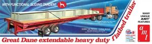 AMT-Great-Dane-Extendable-Flat-Bed-Trailer-1-25-Scale-Model-Kit-New-1111