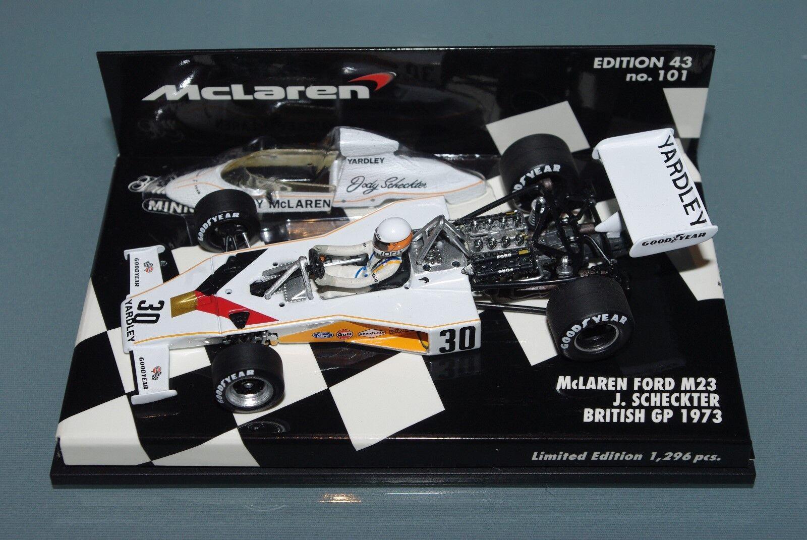 barato Minichamps 1 43 43 43 F1 Yardley McLaren Ford M23 Jody Scheckter British GP 1973  moda clasica