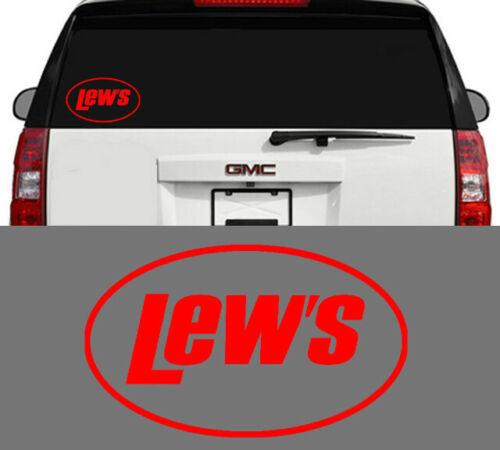 Lew/'s Fishing Reels /& Rods Outdoor Sports Vinyl Decal Sticker Red 6 Inch