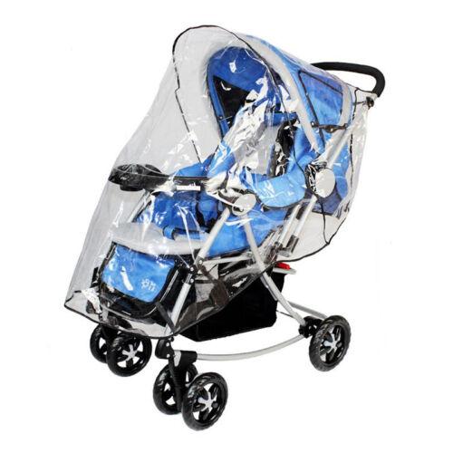 Clear PVC Rain Cover For Buggy Pushchair Stroller Pram Trolley Wind Protector