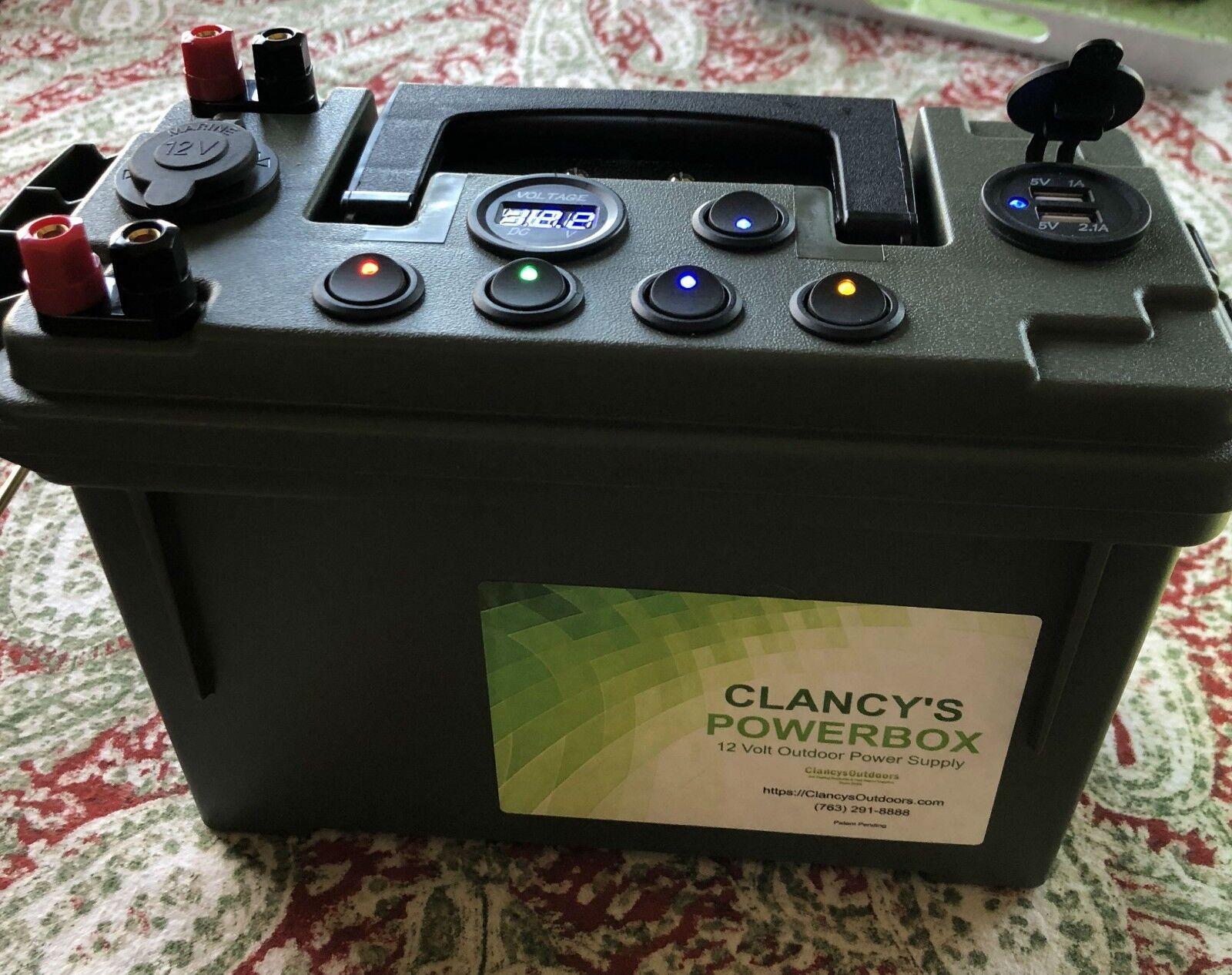 Clancy 'PowerBox 12 voltios fuente de alimentación Hielo Pesca Camping Caza Kayak Rápido