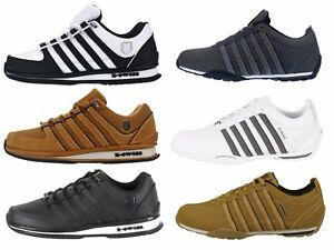Kswiss-Arvee-Rinzler-Mens-Trainers-Lace-Up-Leather-Low-Top-Sneakers-Size-6-12