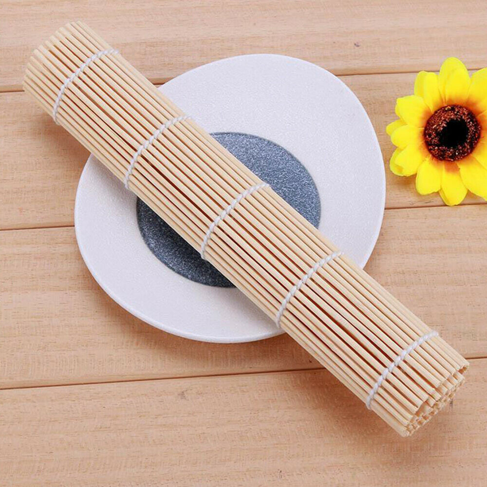 IG_ BE_ GT- Bamboo Non-stick Sushi Rolling Mat Curtain Rice Roller Chicken DIY C Home & Garden
