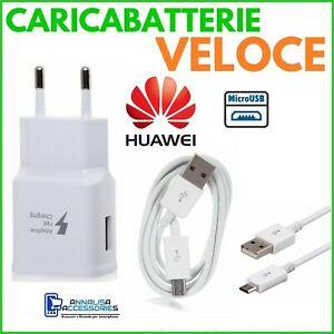 CARICABATTERIE-VELOCE-FAST-CHARGER-per-HUAWEI-P10-LITE-PRESA-CAVO-MICRO-USB