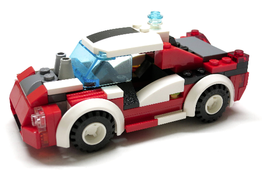 Hot ROT Street Racer LEGO MOC (My Own Creation) ROT & Weiß Edition + 1 minifig