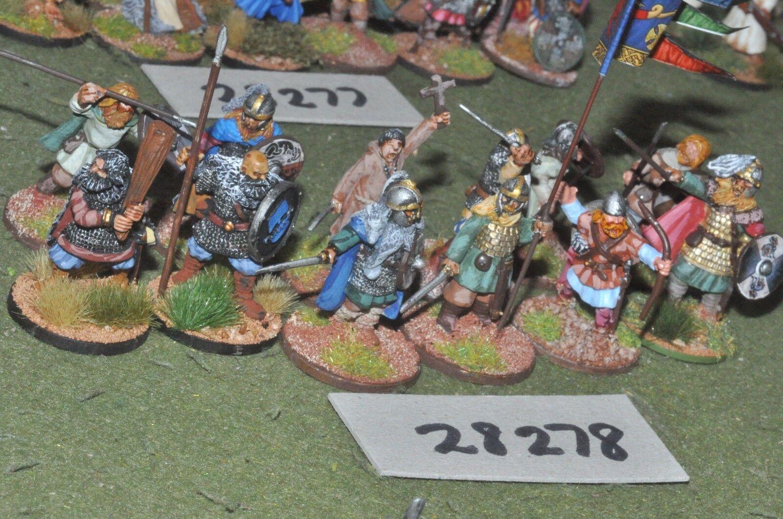 25mm dark ages   viking - warriors 12 figures - inf (28278)