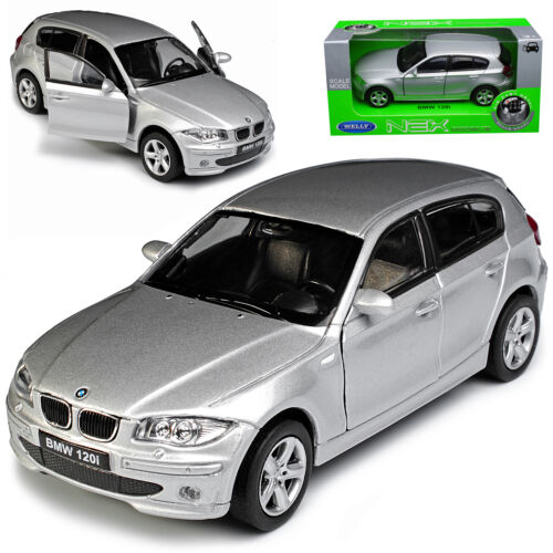 BMW 1er E87 1 Generation 5 Türer Silber 2004-2013 ca 1//43 1//36-1//46 Welly Mod..