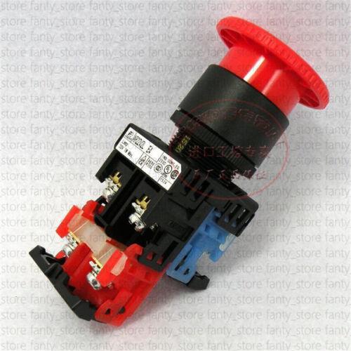 1pcs FUJI With light Quick stop button switch AR22V2L-11E4R 22 aperture #A5T2 LW