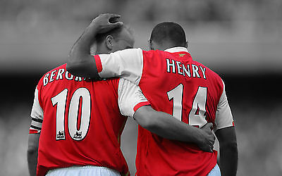Dennis Bergkamp / Thierry Henry - Arsenal FC - A1/A2/A3/A4 Poster / Photo Print