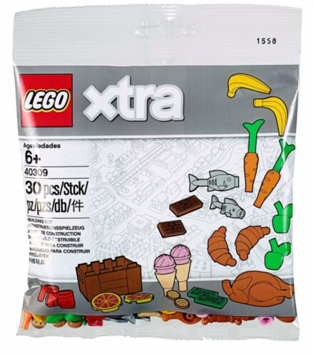 LEGO 40309 XTRA FOOD ACCESSORIES POLYBAG Turkey Carrot Pizza Cookie Chocolate