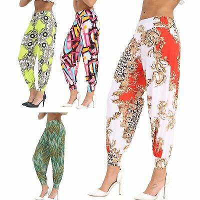Womens Ladies Soft Touch Baggy Harem Loose Alibaba Trousers Pants Boho Lagenlook